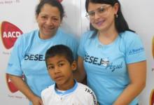 Cristiano faz tratamento na AACD. Seu desejo era ganhar uma camiseta do seu Tricolor. Ganhou mais. Além da camiseta ganhou uma almofada do Tricolor graças às voluntárias Vanessa Pereira e Janei Pereira.