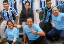 Na última quinta-feira ocorreu mais uma visita das crianças do Desejo Azul na Arena. Participaçao dos voluntários Ricardo Weber, Luciane Dalla e Éder Raul.