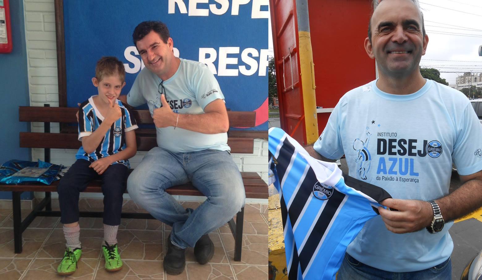 Vinicius faz acompanhamento na APAE de Encantado. Este tricolor estava muito feliz pois além do Grêmio ter se sagrado campeão gaúcho dias atrás ele recebeu a camiseta oficial do Rei de Copas. A ação contou com a participação dos voluntários Daniel Gianezini ( Encantado ) e Alexis Efremides ( Porto Alegre).