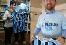 Graziela faz acompanhamento na APAE de Encantado. Ela agora vestirá a sua camiseta oficial do Grêmio e acompanhar e torcer por mais títulos graças aos voluntários Albino Enderle ( Encantado ) e Marcelo Agilardi ( Porto Alegre ).